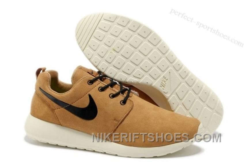 los angeles latest special for shoe size 40 c6228 75bf5 nike roshe run mens running shoes brown white ...