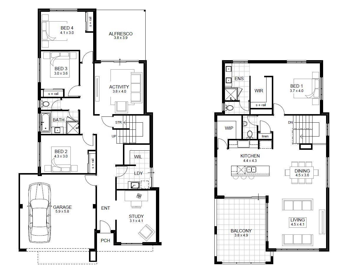 Double Storey Breakthrough Range Perth Apg Homes House Floor Plans Bedroom House Plans Cute766