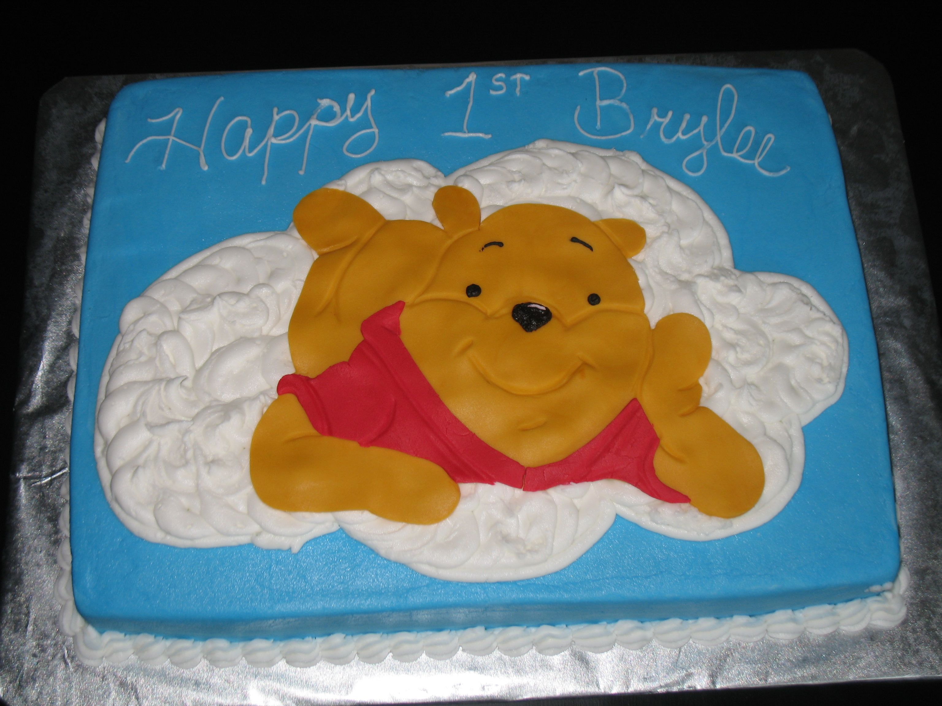 Pooh Birthday Cake Design : Pooh 1st Birthday! Kids 1st Birthday Cake Designs ...