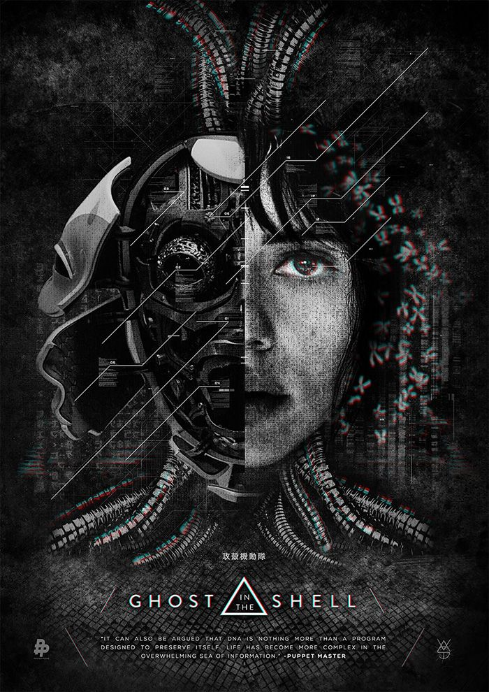 Ghost In The Shell By Vast Home Of The Alternative Movie Poster Amp Ghost In The Shell Movie Posters Minimalist Cyberpunk Art