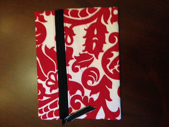 Red Damask Pouch by RedBabyCreations on Etsy, $12.00