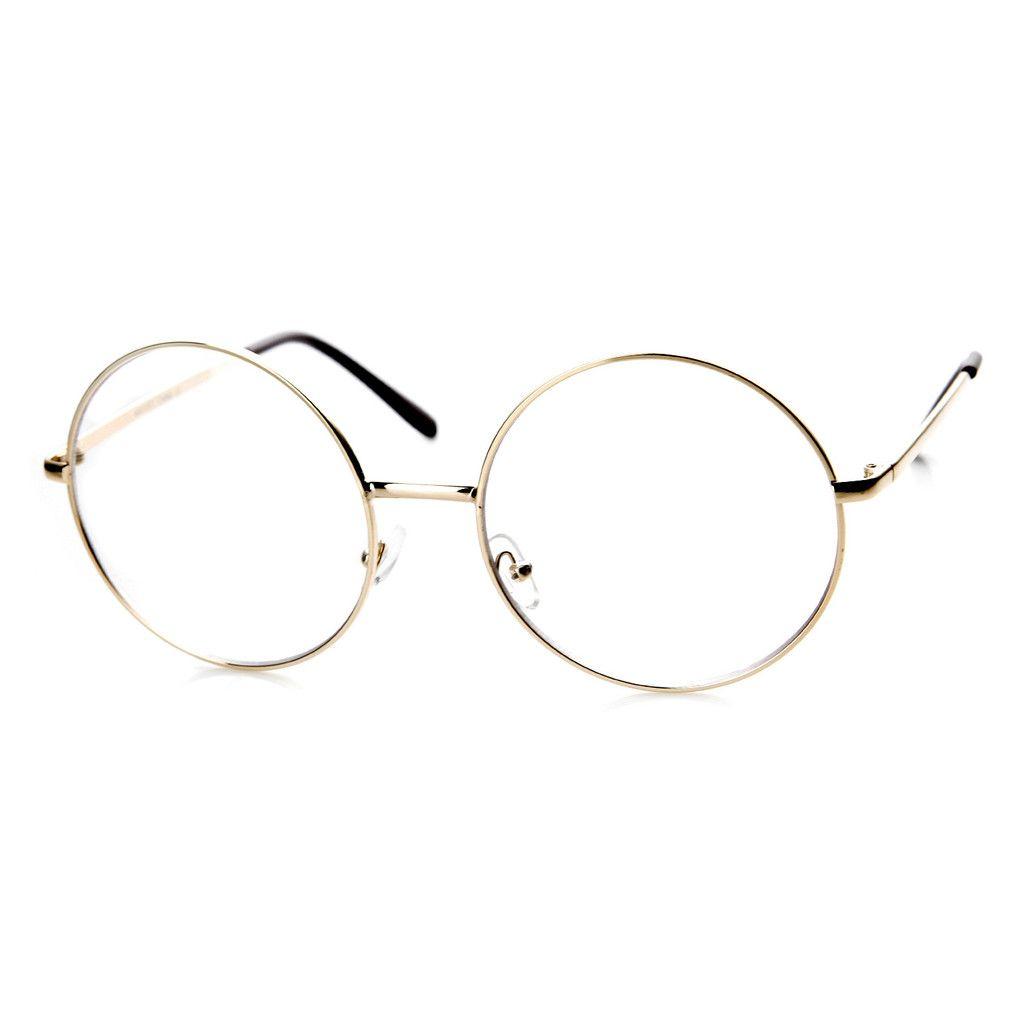 1920\'s Vintage Era Large Round Metal Clear Lens Glasses 8714 ...