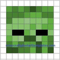 Minecraft Pixel Art Templates Zombie Minecraft Pixel Art