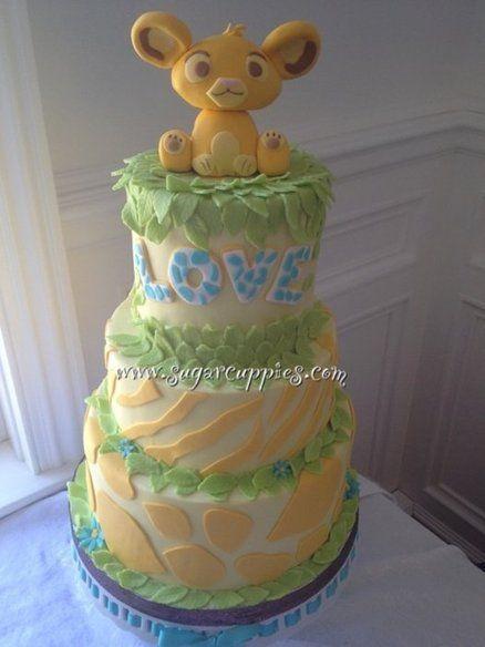 Decorating Ideas > Simba Baby Shower Cake  By Sugarcuppies @ CakesDecorcom  ~ 134721_Lion King Cake Decoration Ideas