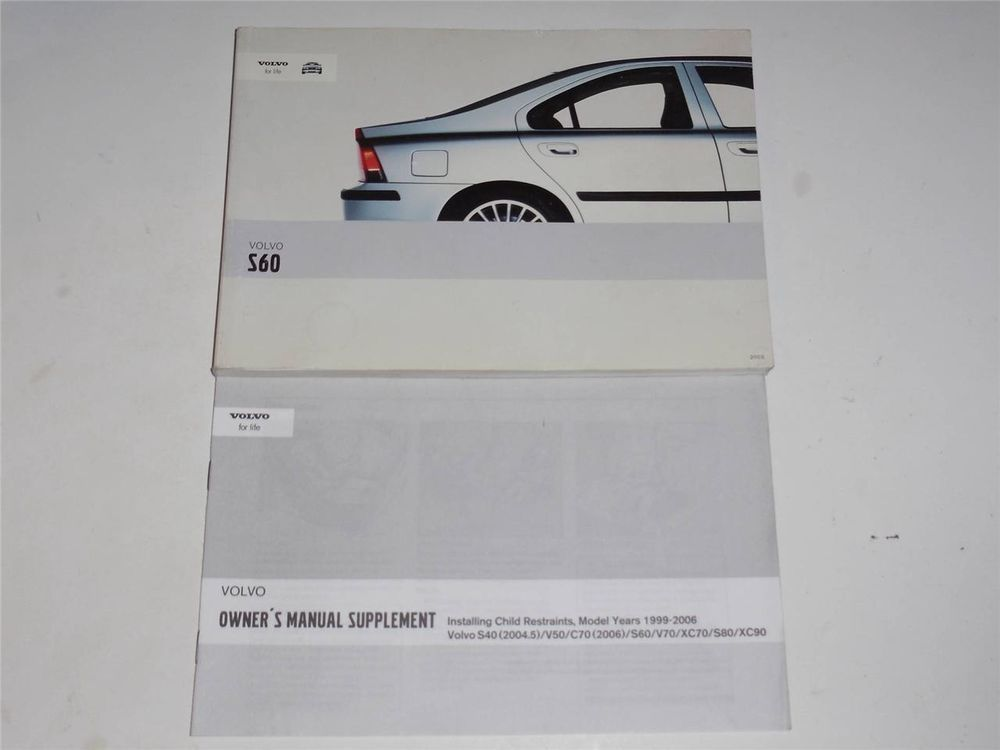 2006 volvo s40 owners manual