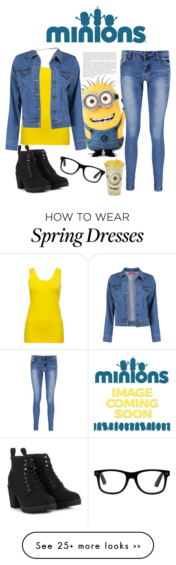 """""""style: minions"""" by magdaaa007 on Polyvore"""
