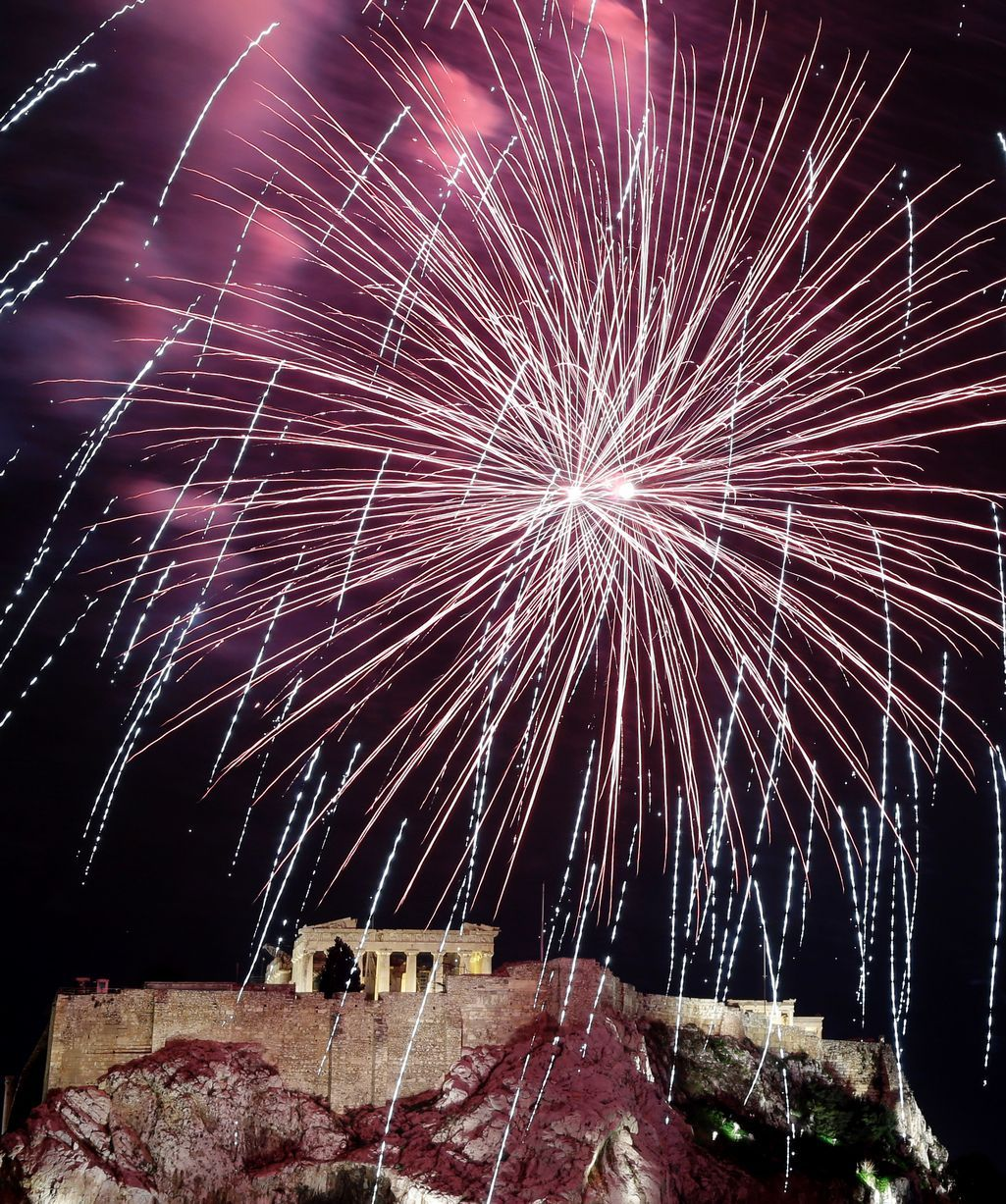 Fireworks over the Acropolis, New Year's Eve 2012/13 New