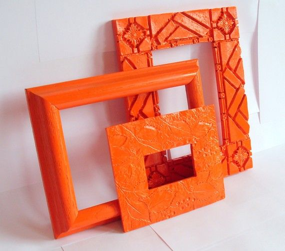 Tangerine painted frames | Pantone Color of the Year 2012 ...