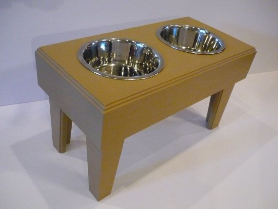 Double Dog Bowl Table with Two Stainless Steel 2qt. Bowls. Penny Lane loves hers!