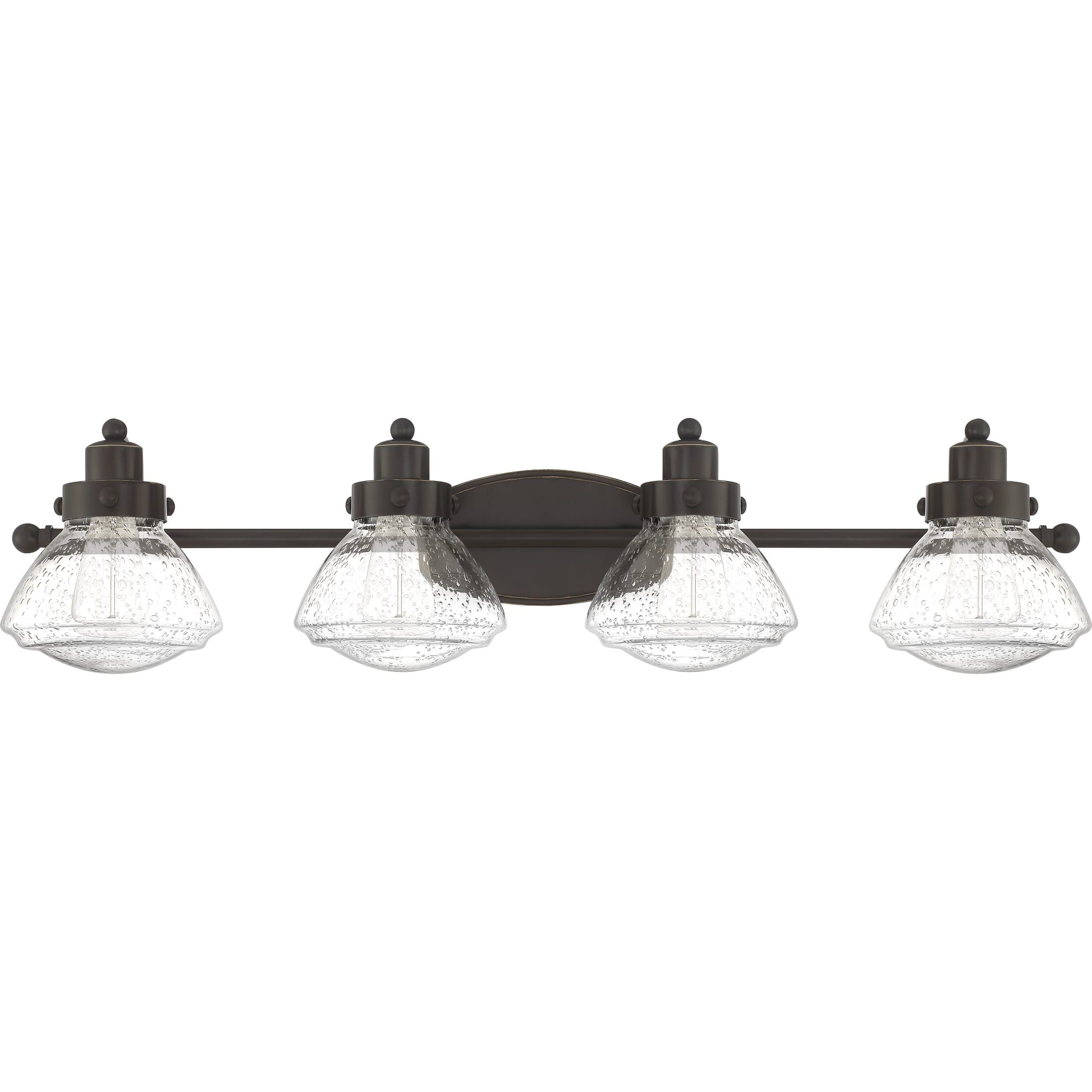 "Photo of Quoizel Scholar 4-Light 8 ""Bathroom Vanity Light in Palladian Bronze"