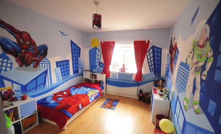 Dormitorios infantiles de superh roes ni as peque as for Dormitorio super heroes