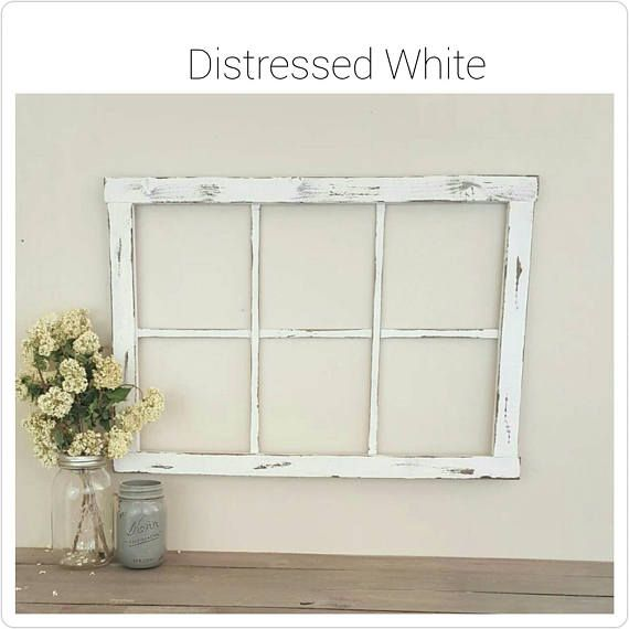 Faux Window Frame Wall Decor Home Mantel