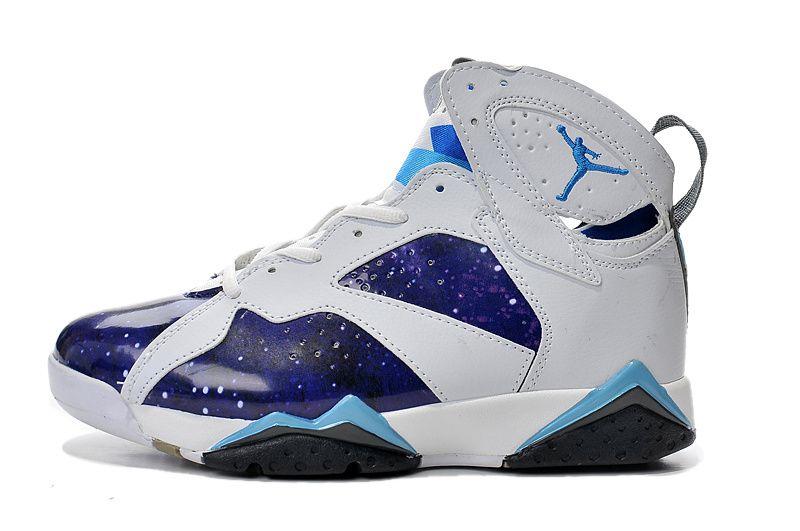 2015 On Sale Air Jordan VII 7 Retro Mens Shoes Blue White