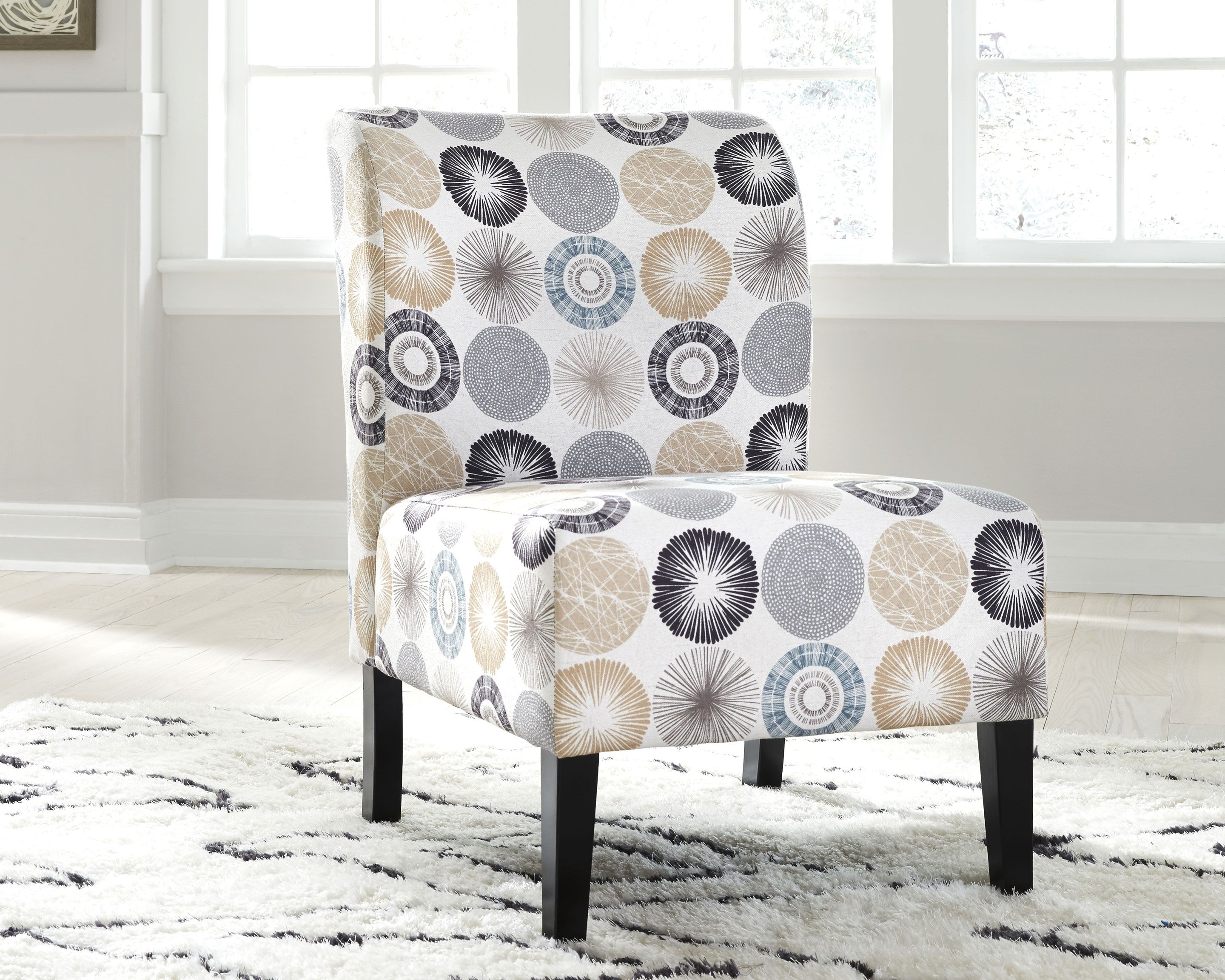 Triptis Accent Chair Gray Tan Accent Chairs Furniture Living Room Chairs