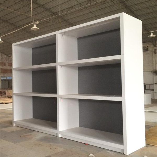 Mdf White Wooden Three Layers Wall Display Cabinet