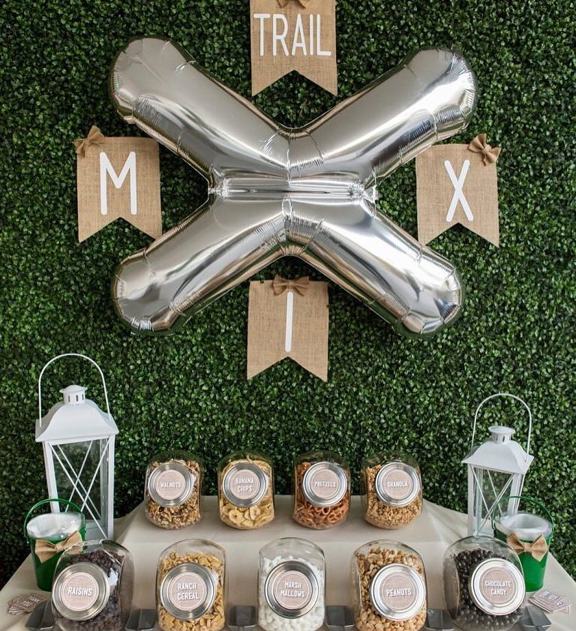 Small Wedding On A Budget: Take A Look At @somethingturquoise Wedding Trail Mix Bar