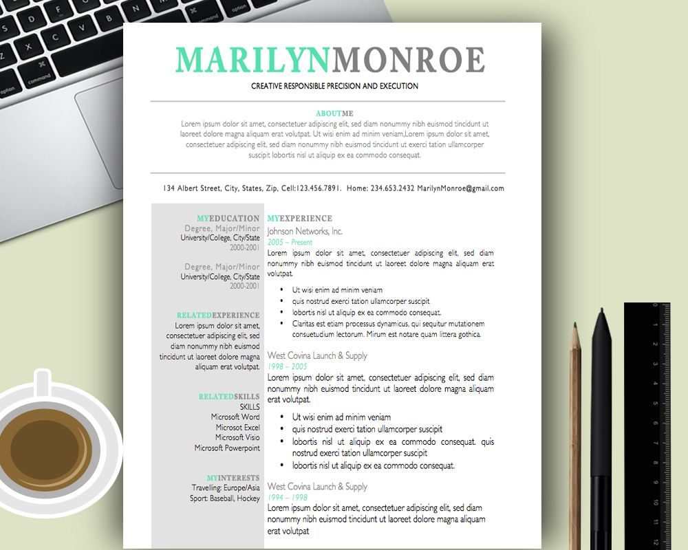 Premium and Creative Resume templates / cover letters ; Modern ...