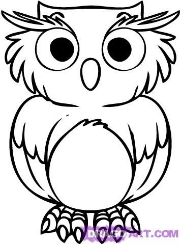 owl cartoon - Google Search for coloring | Inspired School Stuff ...