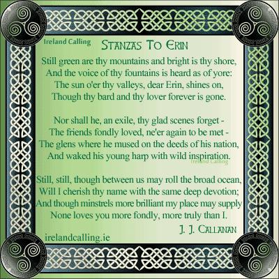 Stanzas to Erin. Image copyright Ireland Calling