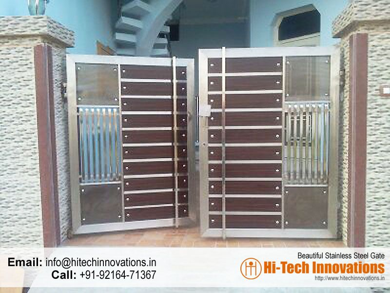Stainless steel gate ht ssg 00a fachada portas for Door gate design