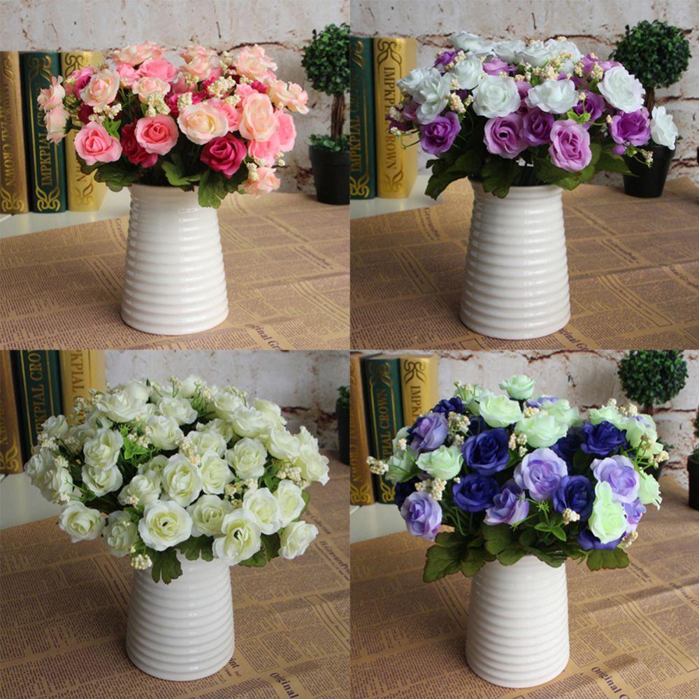 Home wedding decor ideas   bunch Artificial Star Rose Flower Home Wedding Decor  Different