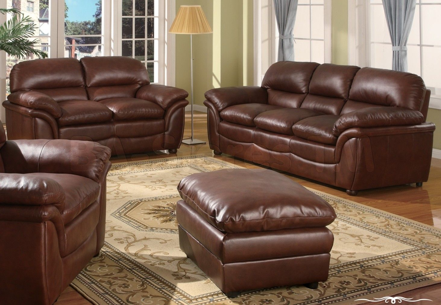 2018 Studded Leather Sofas Add A Timeless Beauty And Comfort
