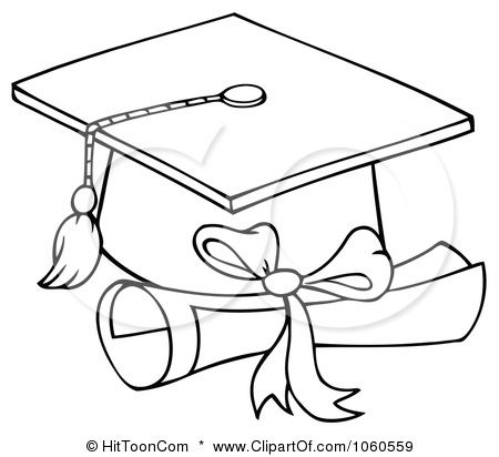 Graduation Graduation Cap Drawing Graduation Drawing Coloring