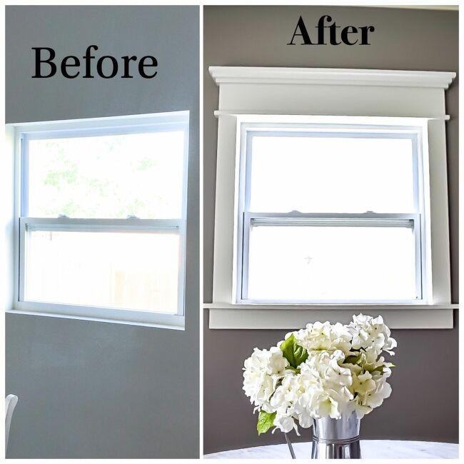 How to Build DIY Fancy Window Trim the Lazy Girl Way