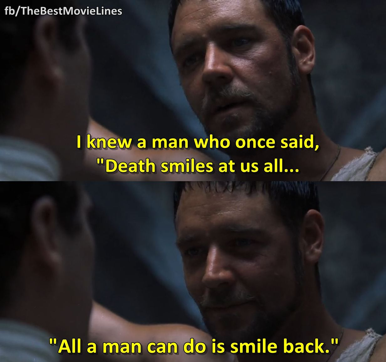 Epic Love Quotes From Movies: - Gladiator 2000 Russell Crowe Joaquin Phoenix Dir: Ridley