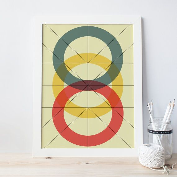 MODERN ART PRINT , Mid Century Poster, Modern Wall Art, Ikea Ribba ...