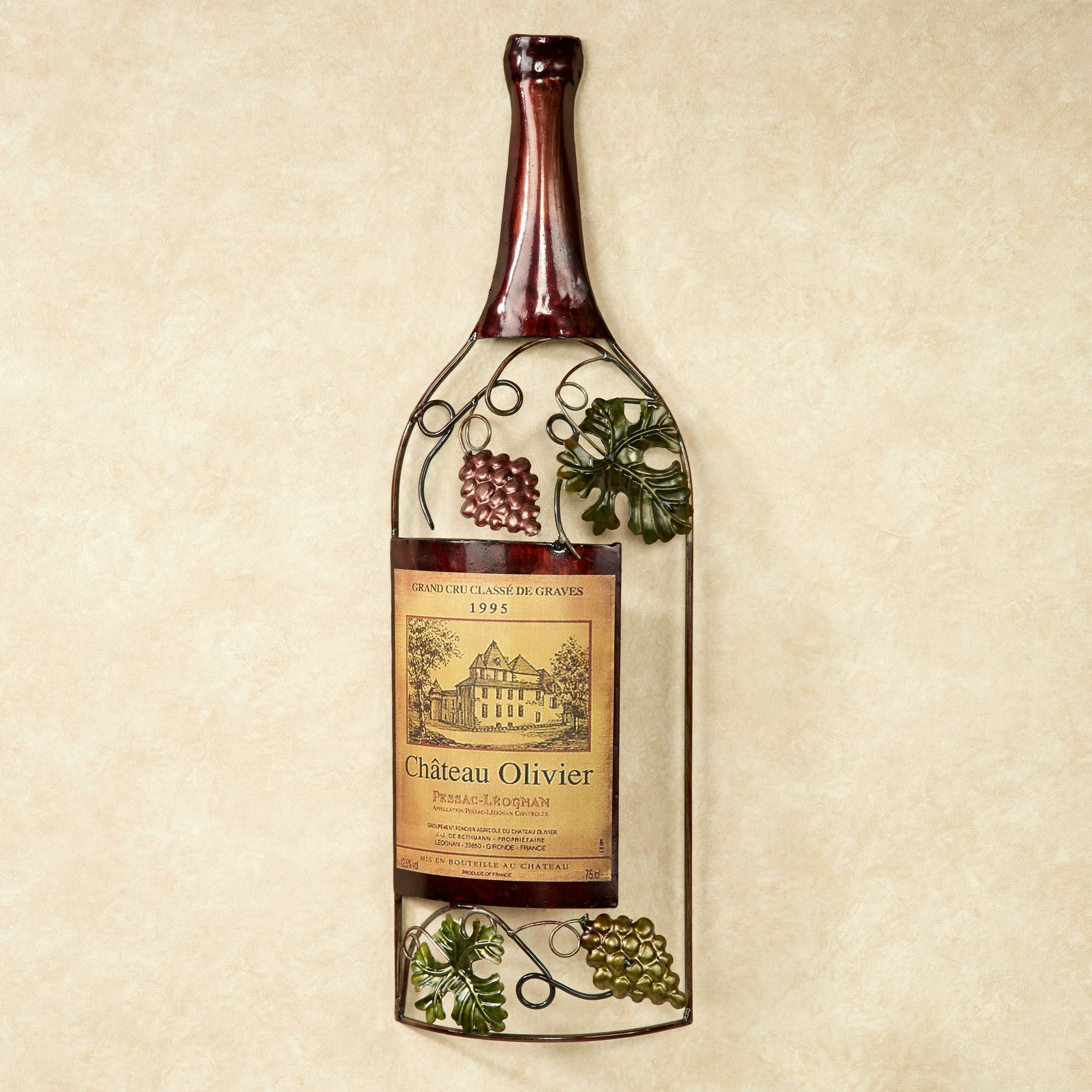 Wine Bottle Wall Decor Vineyards Finest Wine Bottle Metal Wall Art  Ideas For The House