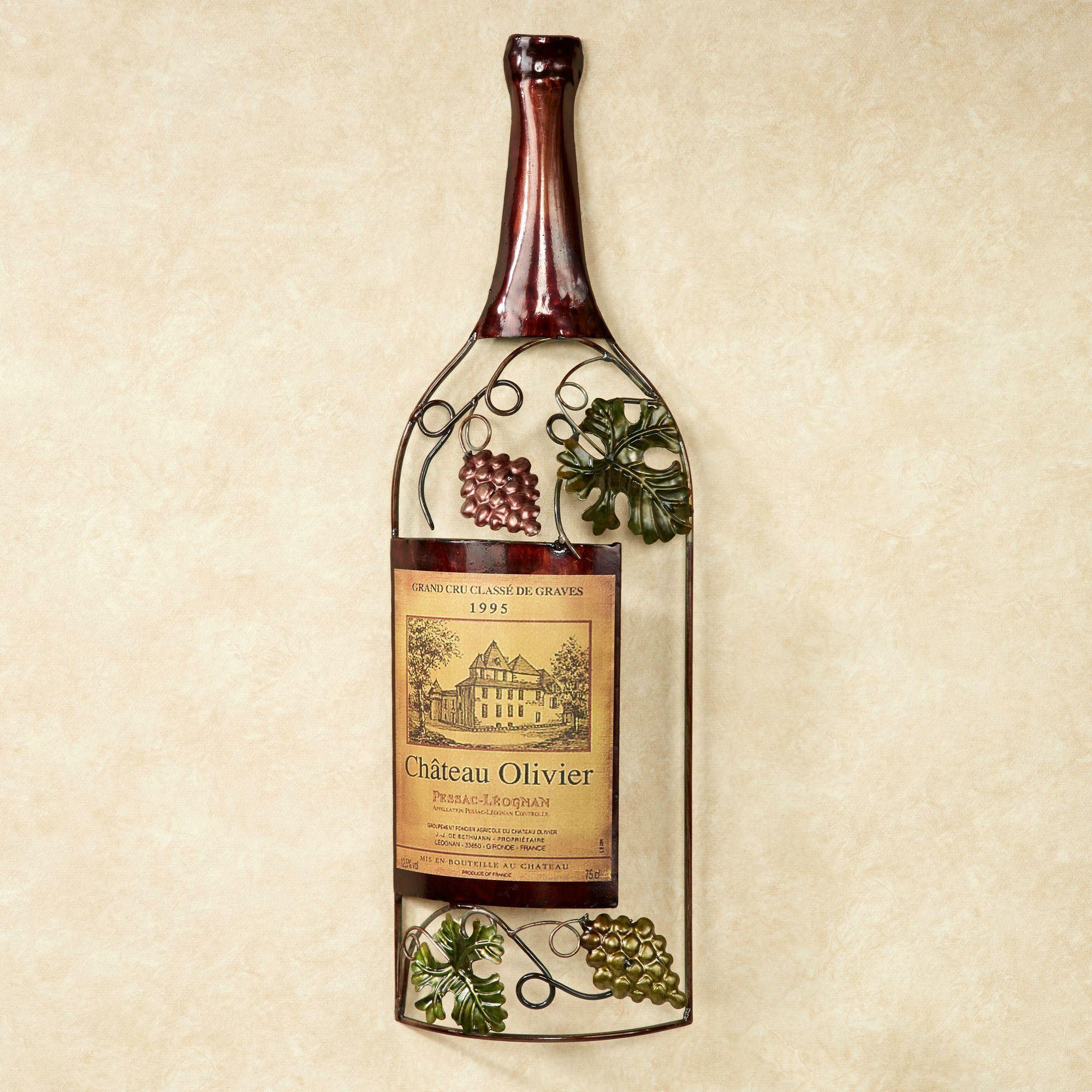 Vineyards Finest Wine Bottle Metal Wall Art Wine Wall Art Wine Art Metal Wall Art