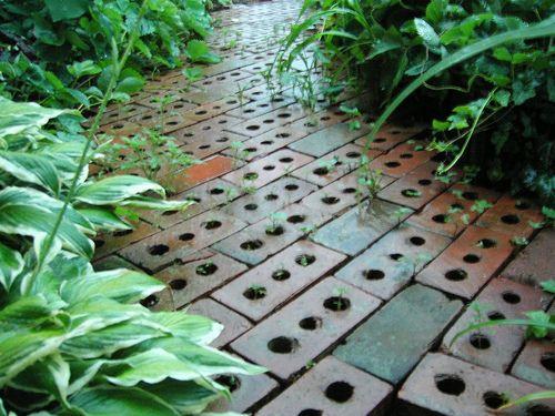 Brick Path Bricks With Holes Brick Path Brick Garden Scent Garden