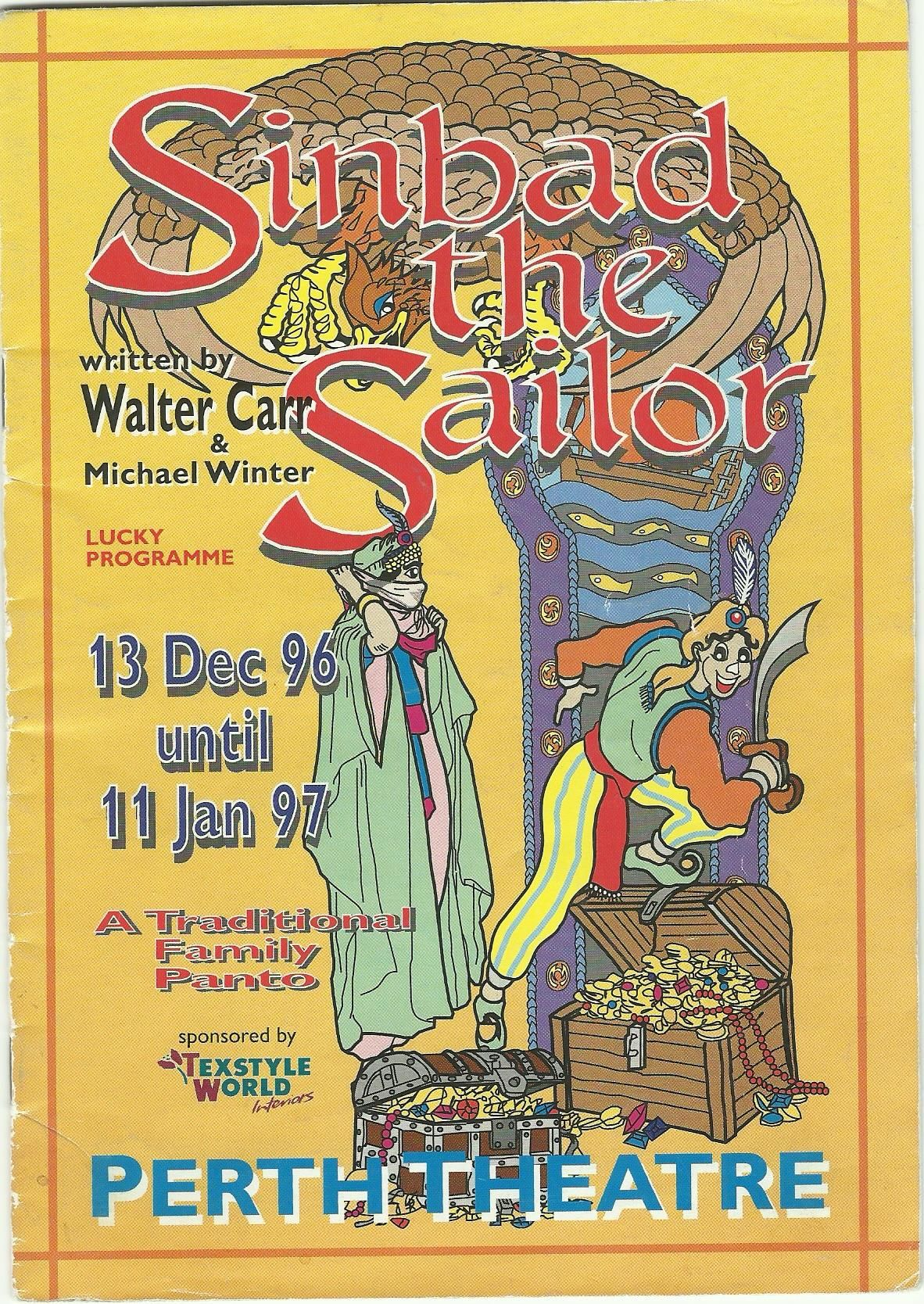 Posters Perth Poster Of Sinbad The Sailor In Perth Theatre S Pantomime 13th
