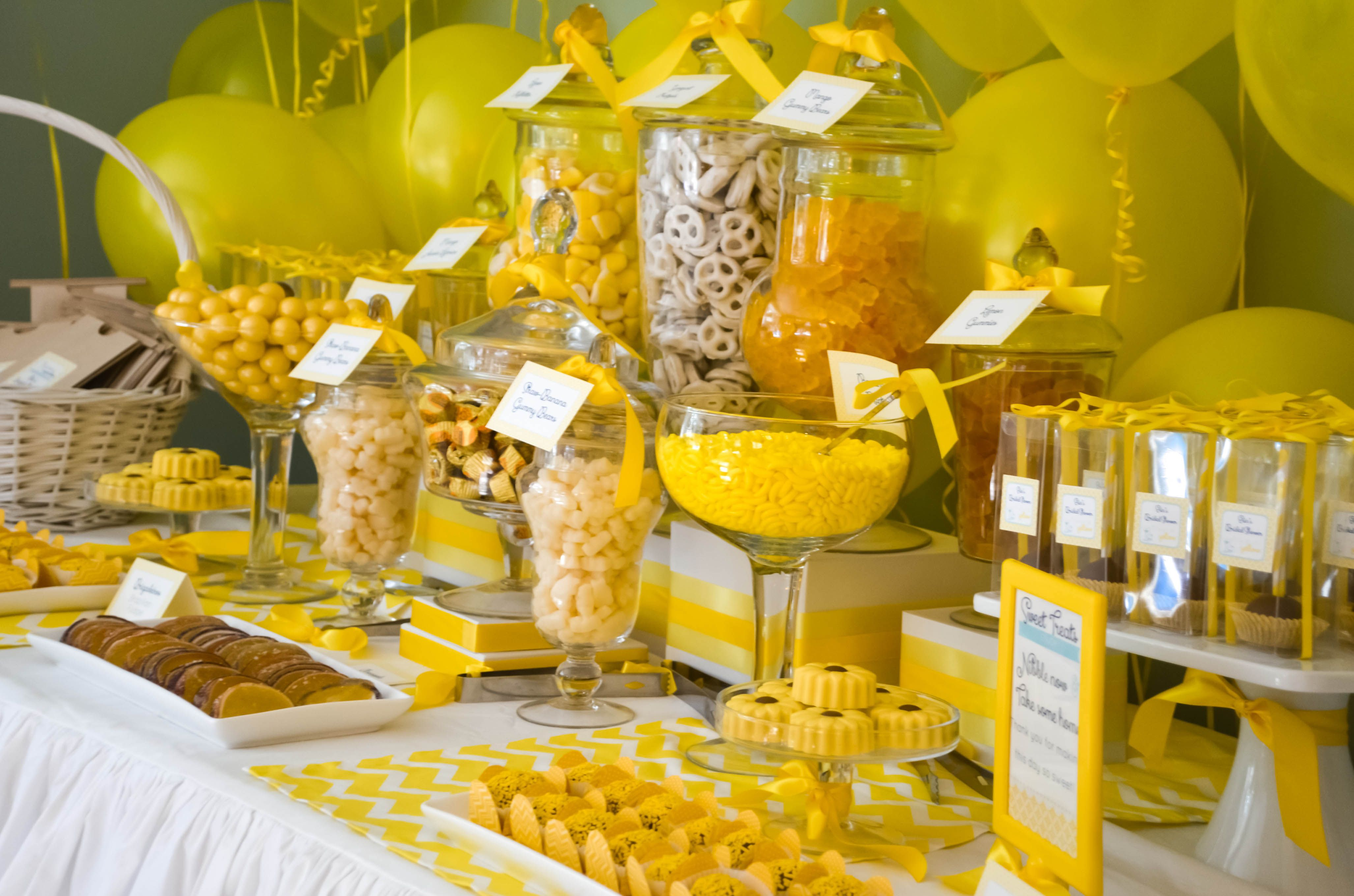 Baby Shower Sweet Table Ideas baby boy candy buffet Baby Shower Candy Table Pinterest