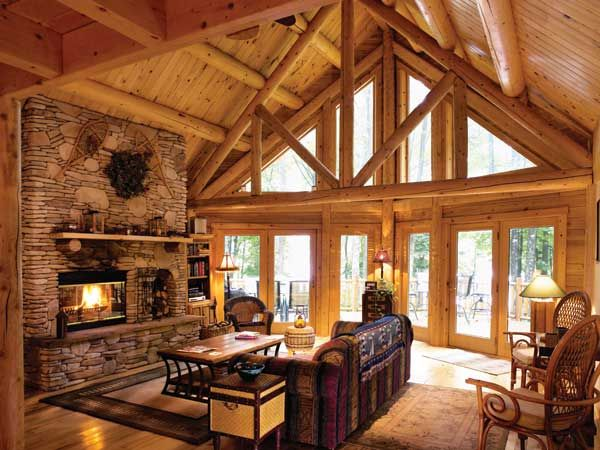 Charmant Updating A Classic Log Cabin In Maryland