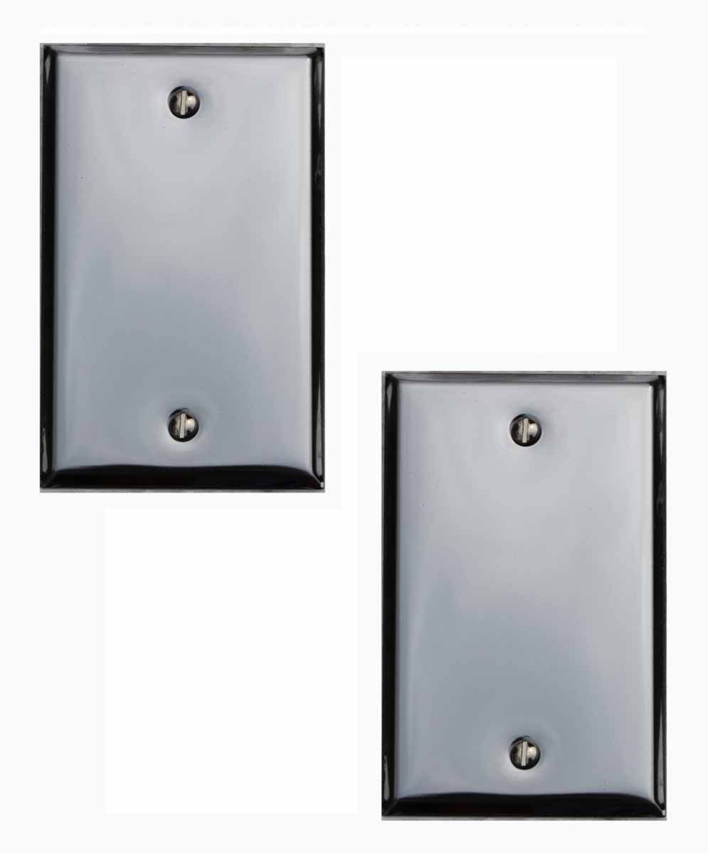 Blank Switch Plate Fascinating 2 Switchplate Chrome Single Blank  Chrome Plating And Steel Decorating Inspiration