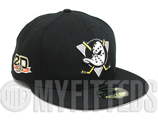 Anaheim Mighty Ducks 20th Anniversary 59FIfty Fitted Cap By NEW ERA
