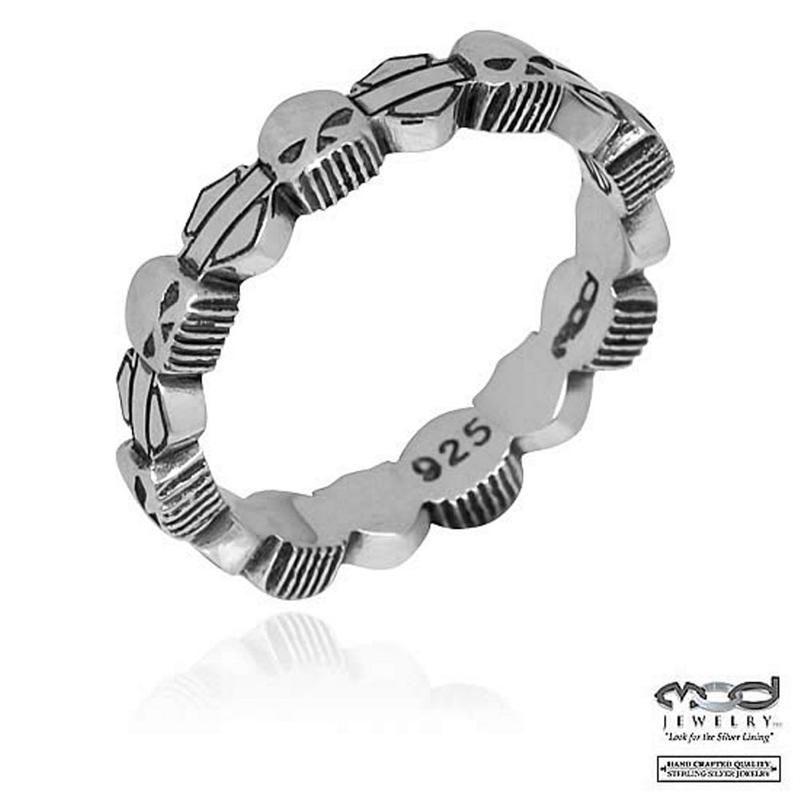 Harley-Davidson® Women's Skull Stacking Ring HDR0180