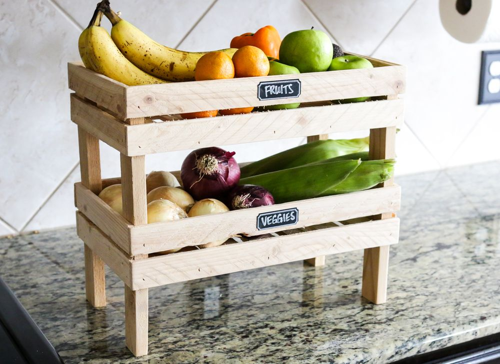 How to's : How to build a DIY stackable fruit and veggie crate