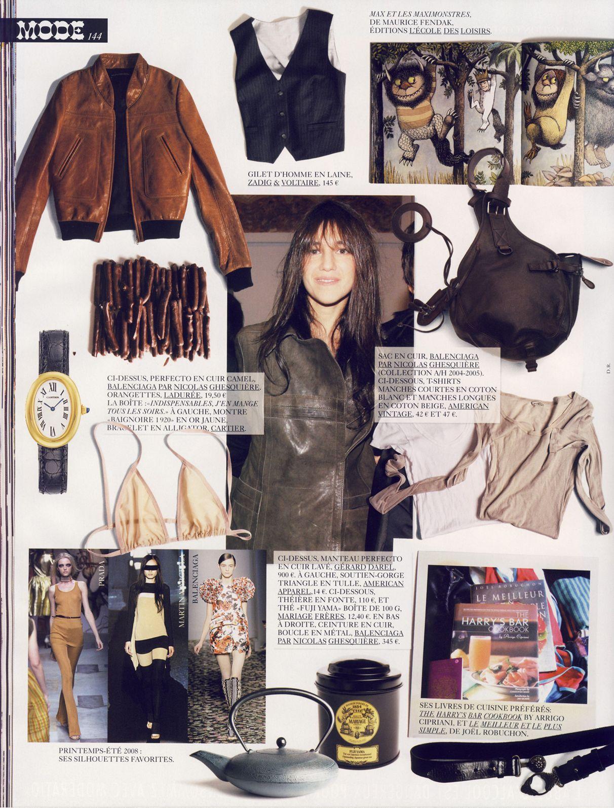 Charlotte Gainsbourg per French Vogue   Одежда   Charlotte ... 6daa86825b4c