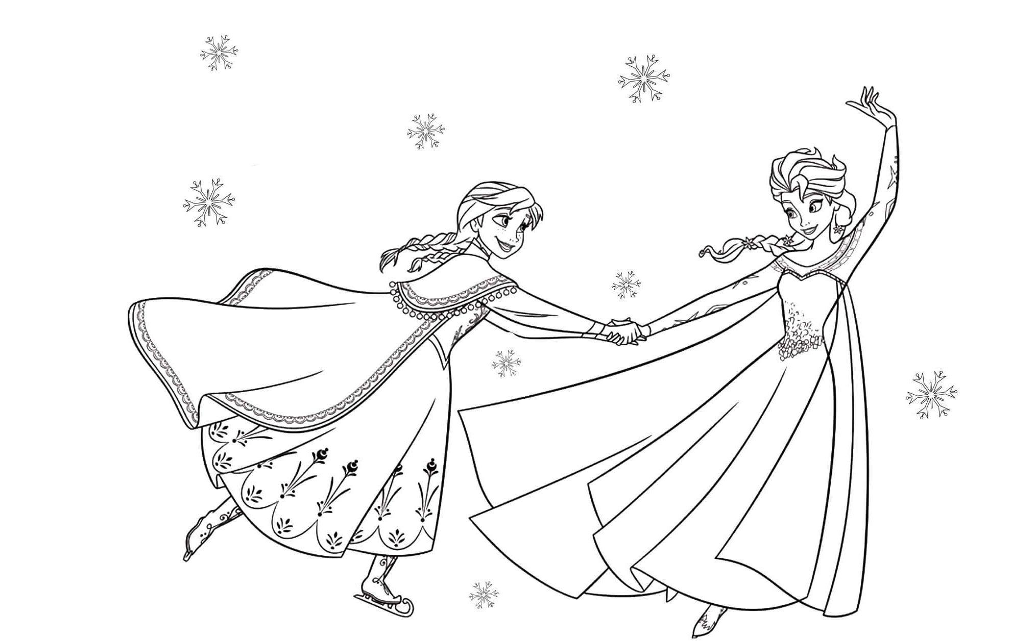 Malvorlagen Gratis Frozen In 2020 Ausmalbilder Anna Und Elsa Elsa Ausmalbild Anna Und Elsa