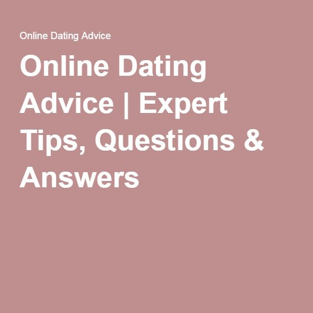 Online dating questions and answers