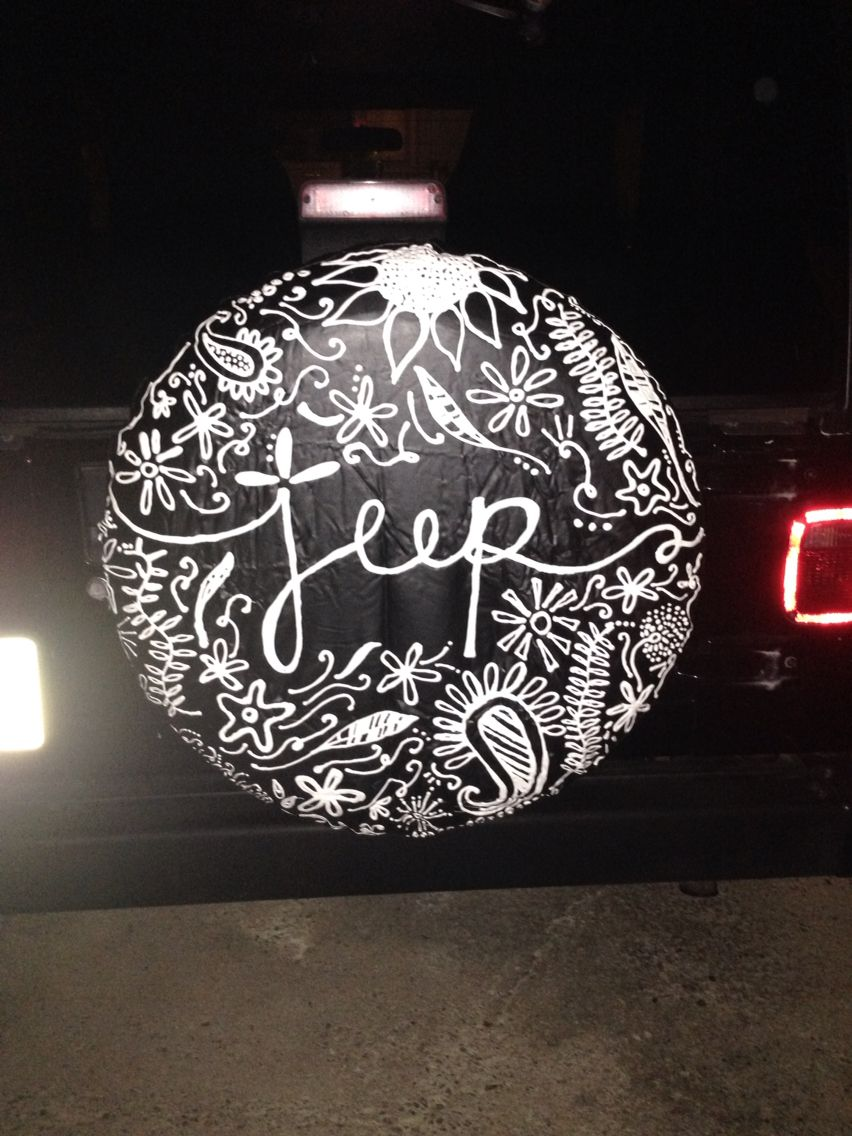 jeep tire cover made by my talented daughter!