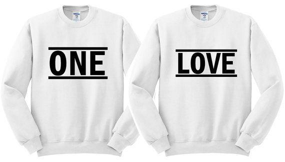One Love Couple Sweatshirt Matching Couple Shirts Anniversary