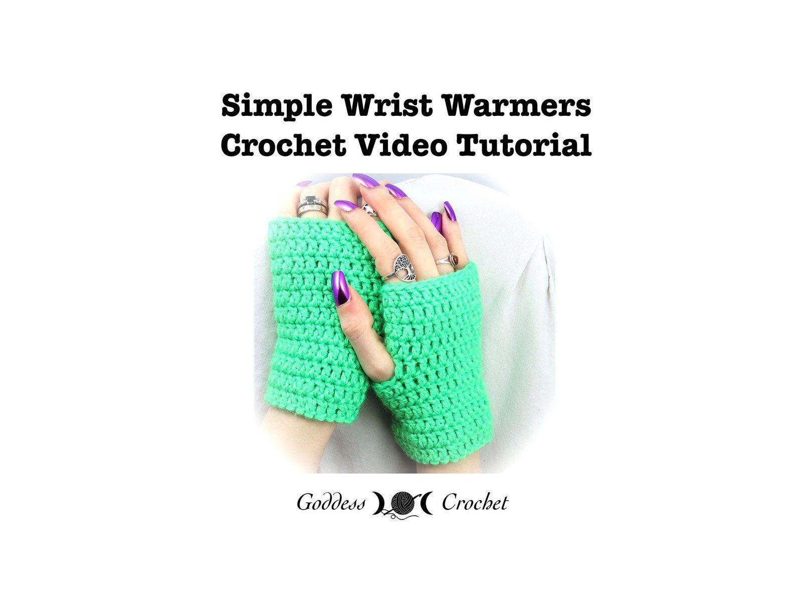 Crochet Video Tutorial – Simple Wrist Warmers | GLOVES | Pinterest