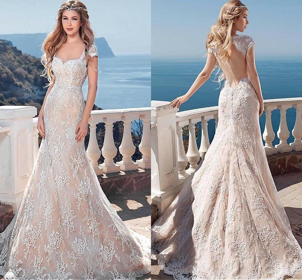 Hochzeitskleid Blush Spitze Friseur Hochzeitskleider Vintage