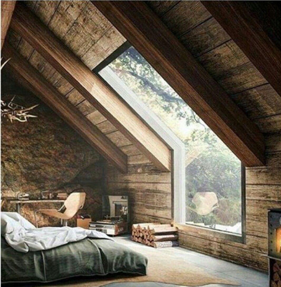 big windows | Windows | Pinterest - Zolder, Slaapkamer en Renovatie