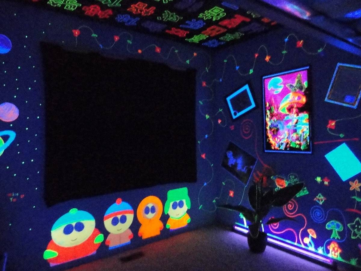 Awesome Blacklight Room Google Search Interior Design Black Interior Design Ideas Clesiryabchikinfo