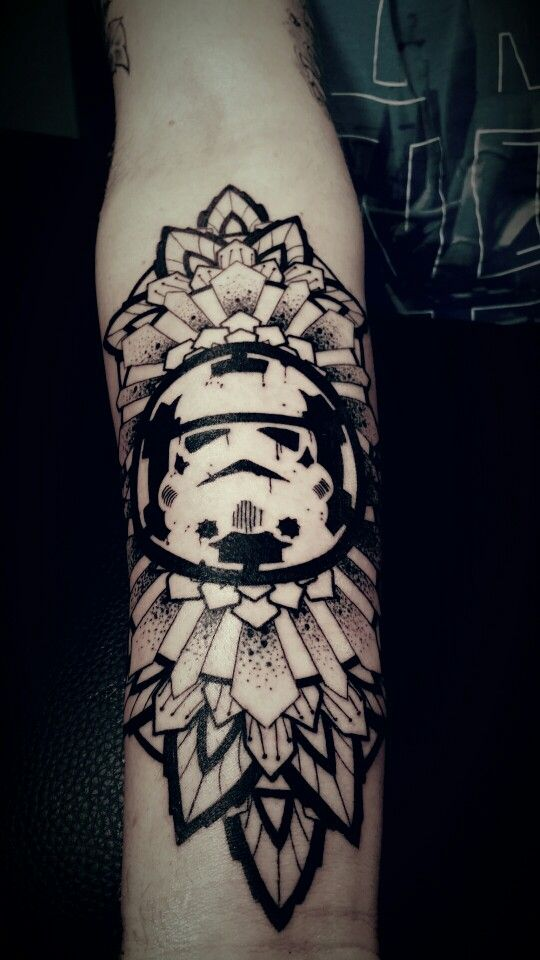 Star Wars Mandala By Justin Eaton Arm Tattoos Star Wars